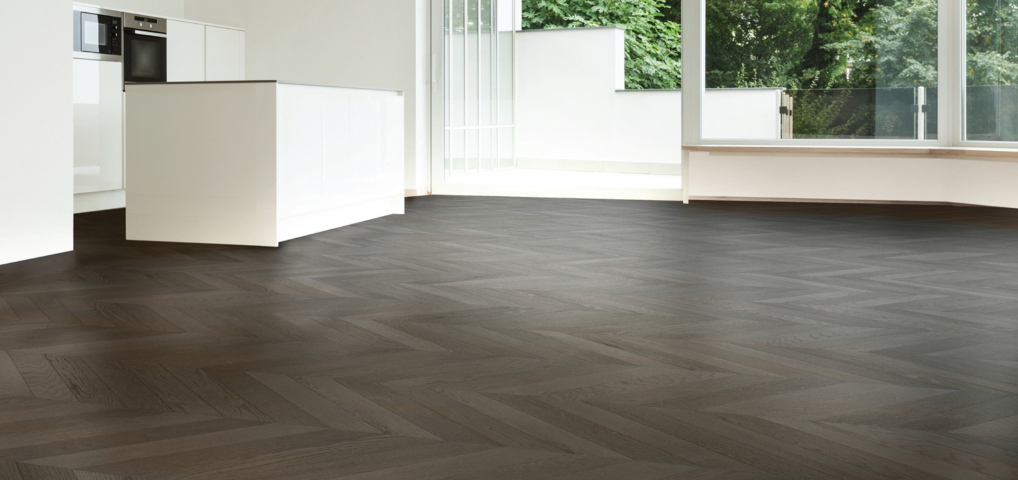 Wood Flooring London | Chevron Room example