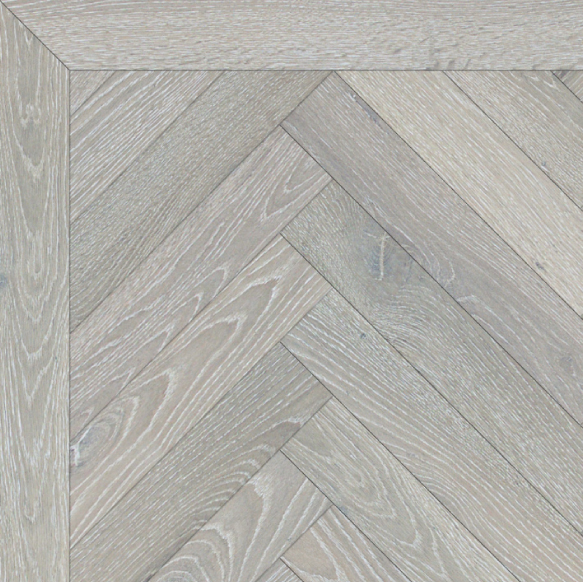 Grey Chalk Herringbone Wood Flooring London